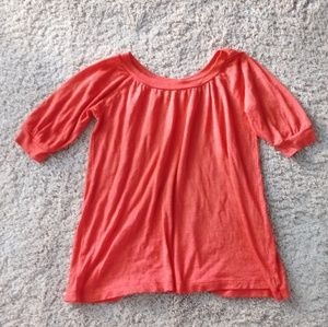 Michael Stars Red Shimmer Top *One Size Fits Most